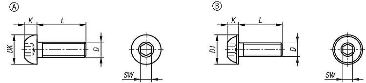 10 tornillos de cabeza plana con brida seg/ún ISO 7380-2 TX de acero inoxidable A2.